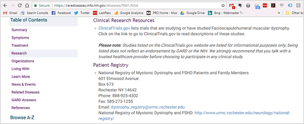 link from NIH site