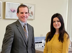 Dr. Timothy Doerr and  Indira Celik, Licensed Aesthetician