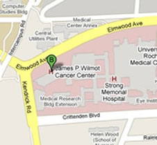map to Wilmot Cancer Center