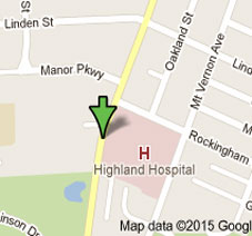 map to Highland Hospital and GAMA