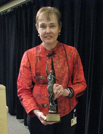 Edith Lord accepts Davey Award