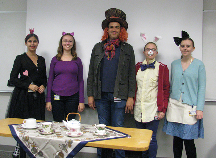 The Mello Lab as the Cast from Alice In Wonderland