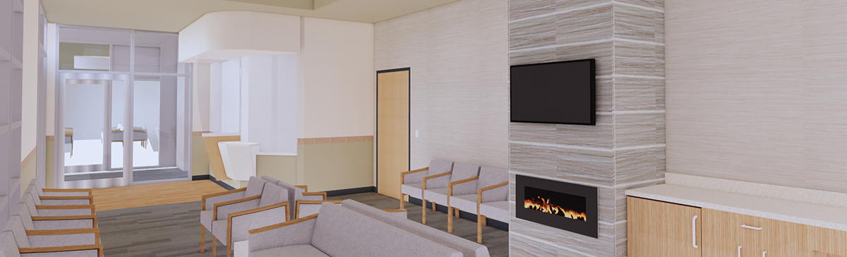 Rendering of UR Medicine Women's Imaging & Breast Center in Hornell Waiting Room