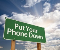 """Put your phone down"" sign"