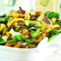 roasted cauliflower and squash