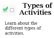 Types of Activities