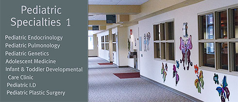 Pediatric Specialties 1 Hallway