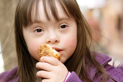 Girl Eating Bread
