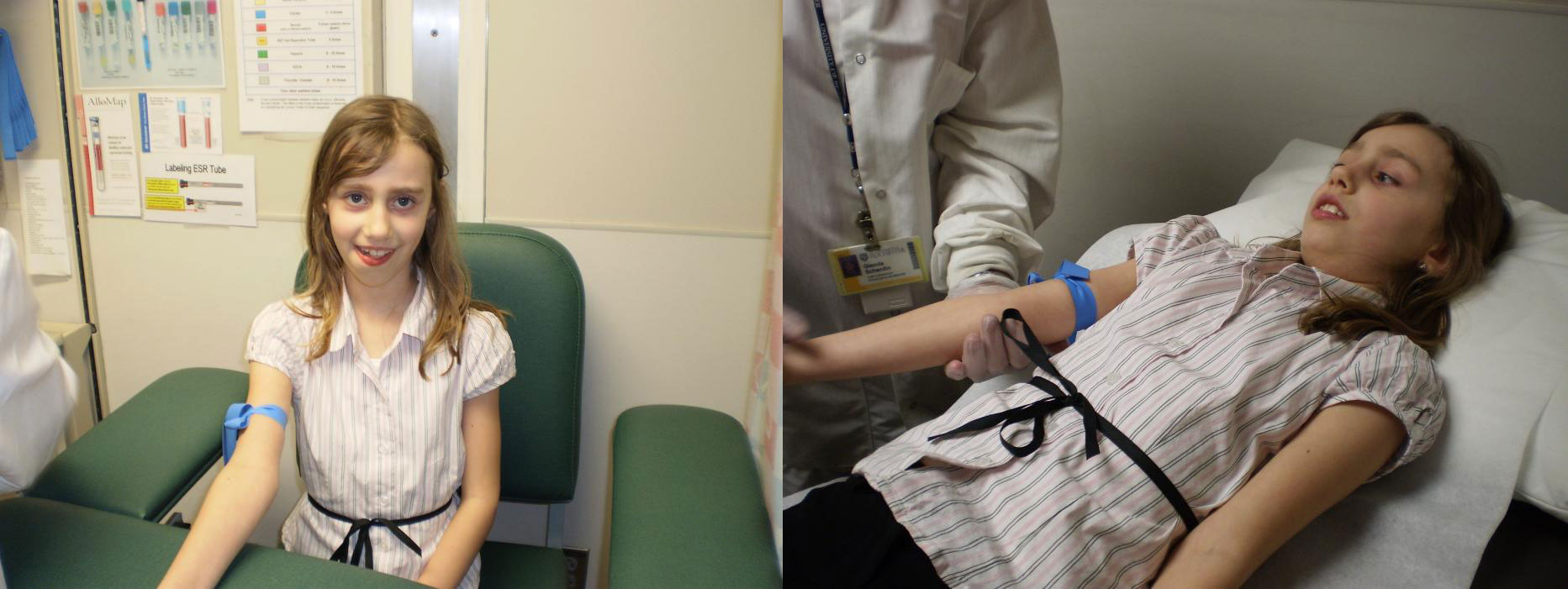 Tourniquet squeezing a patient's arm