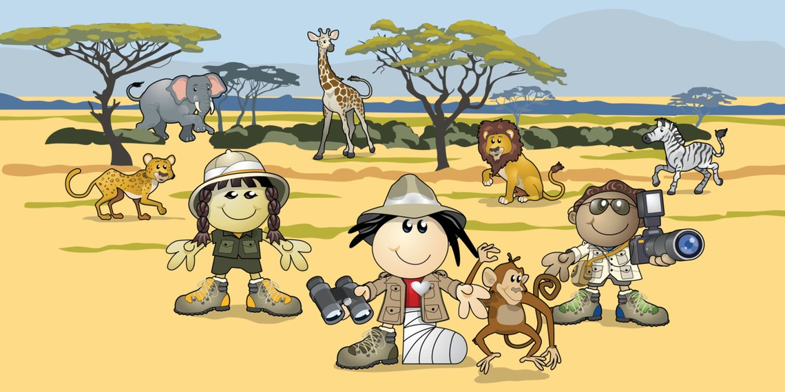 Animals and Sandy Strong - Safari Adventure