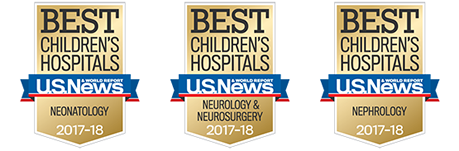 UR Medicine's Golisano Children's Hospital has been ranked among the nation's best