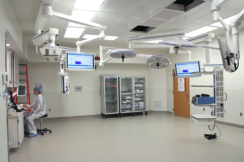 Six new operating rooms, including a dedicated pediatric cardiac OR