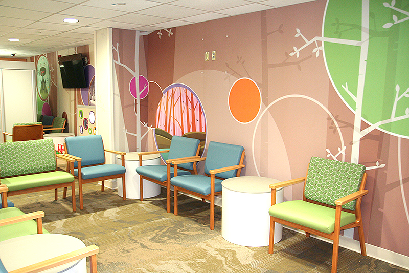 Pediatric-friendly waiting space for families