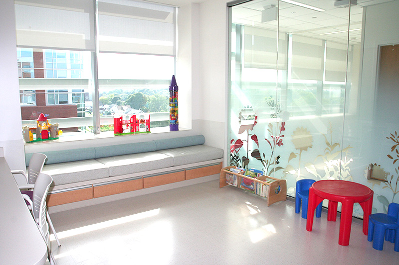 PICU — Child Life oversees the PICU Play Room.