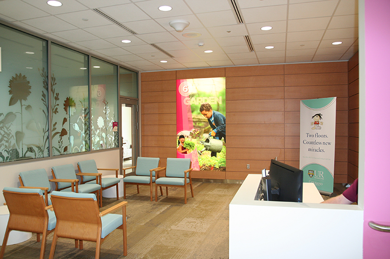 PICU — Family Lounge entrance and Ambassador's desk