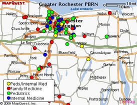 Greater Rochester PBRN Practice map