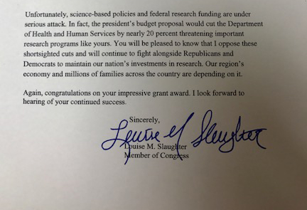letter from L Slaughter