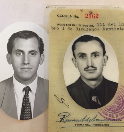 Sergio and his grandfather at same age