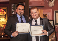 Fawad and Sergio accepting award
