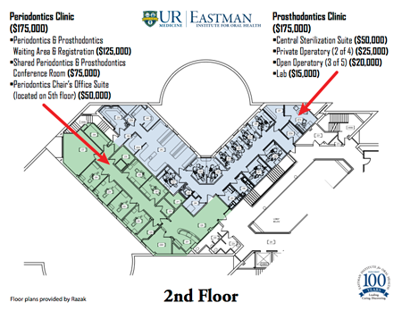 Periodontology & Prosthodontics Clinics Second Floor Plan