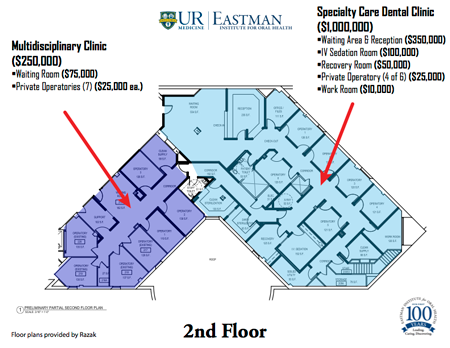 Specialty Care Second Floor Plan