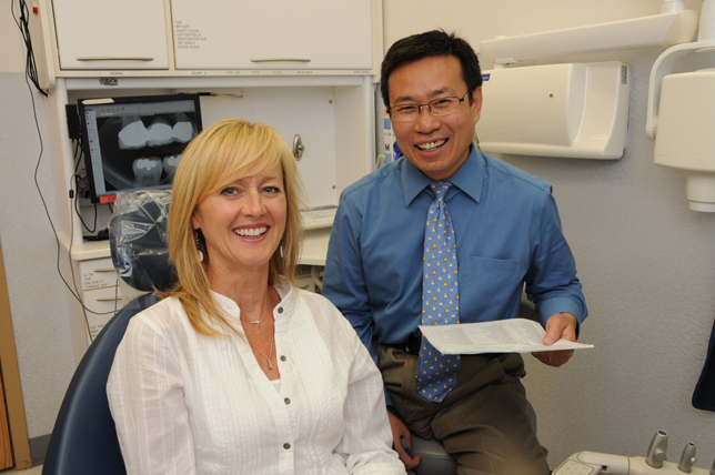 Theresa Nelson and Dr. Liu