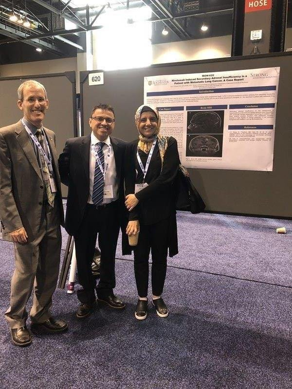 Dr. Hammes, Dr. Chavez and Dr. Shafiq with Poster