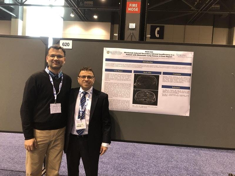 Dr. Salman Azim and Dr. Luis Chavez With Poster