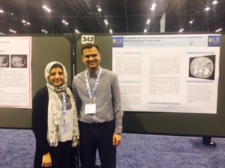 Dr. Shafiq and Dr. Azim with Poster
