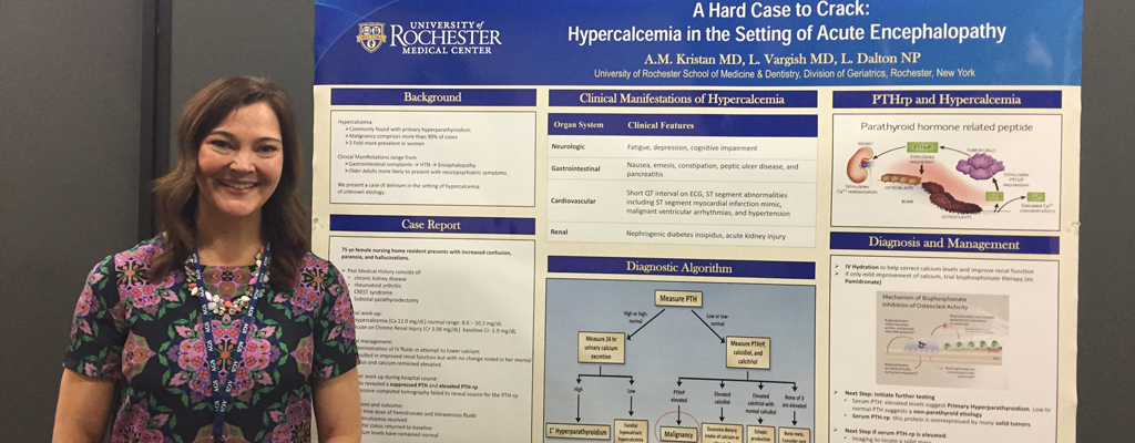 Angela Kristan, MD with Poster