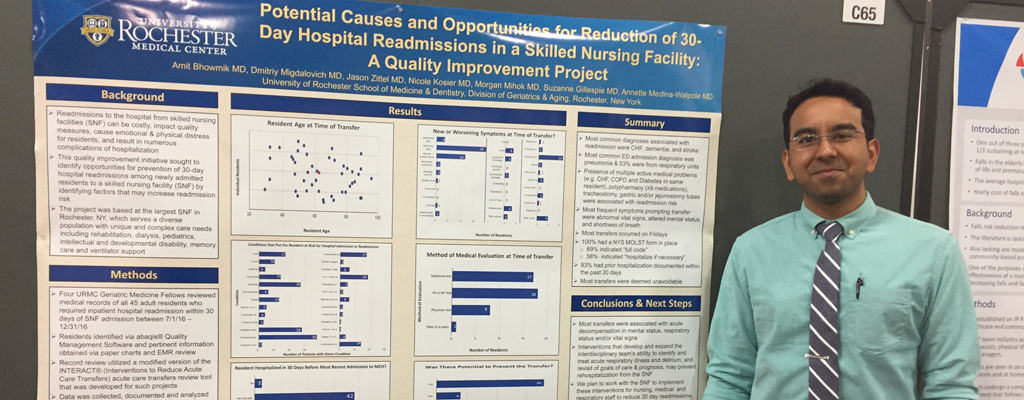 Amit Bhowmik, MD with poster