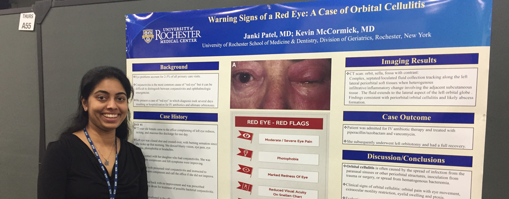 Janki Patel, MD with poster