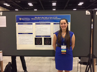 Nicole Kosier, MD at a poster session