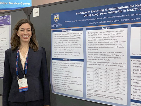 Dr. Elizabeth Lee presenting her research at the Heart Failure Society of America Annual Meeting in 2019