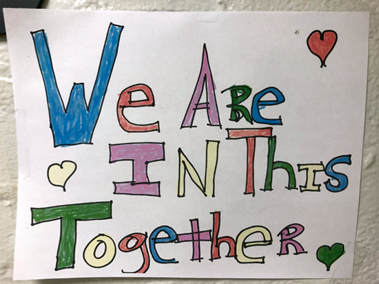 Sign in at Strong Memorial Hospital: We are All in this Together
