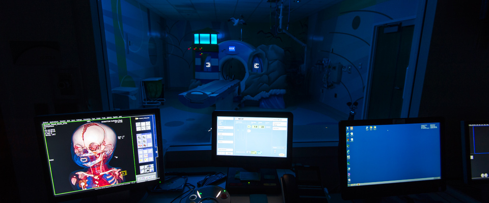 CT Scanner and Control Room