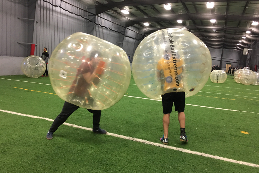 Fun with human sized bubble balls