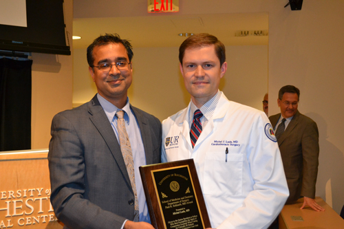 Michal Lada presented with the Paul R. Schloerb, MD Award 2017 – 2018.