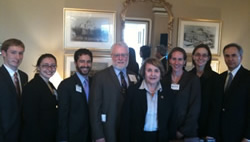 Louise Slaughter with Family Medicine residents and Residency Director Steve Schultz.