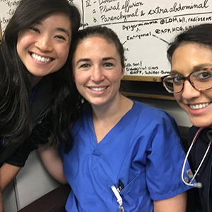 Group of three OB/GYN residents