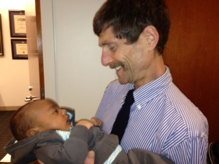 Dr. Louis Constine with baby
