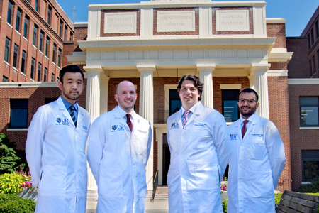 Chief Residents In front of original hospital entrance