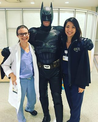 Adrianna Hontar and Ji Hae Park meet Batman