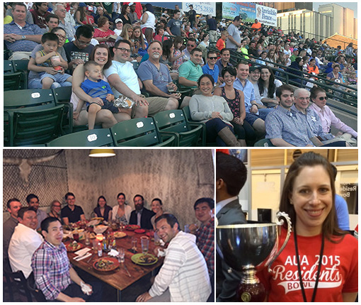 Urology Collage of student activities, awards, dinner out and baseball