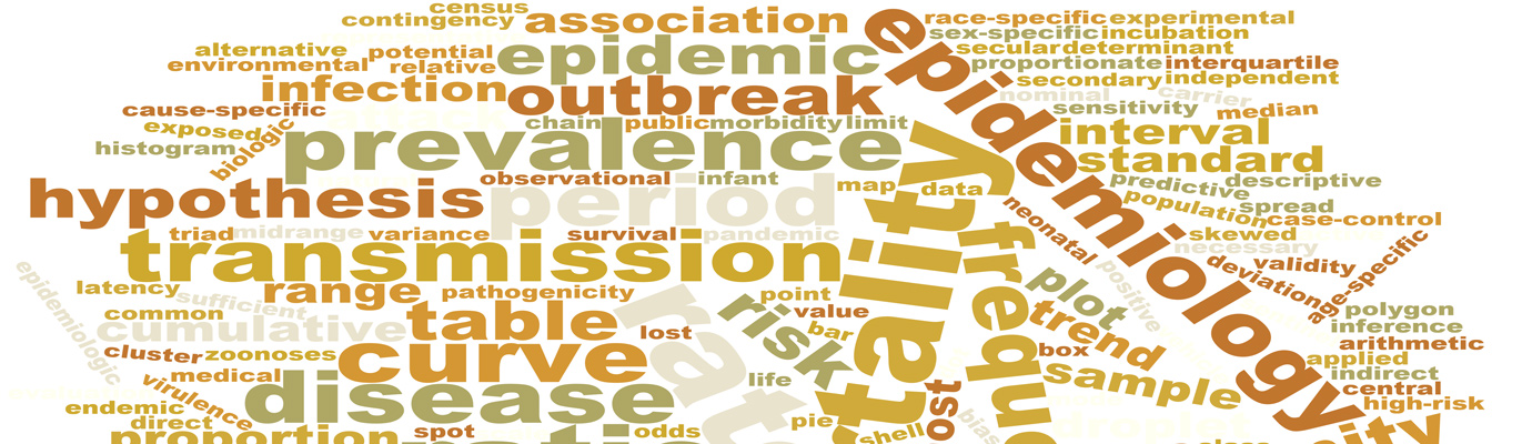 Epidemiology Word Cloud Banner