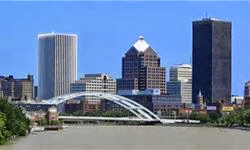photo of part of the city of rochester