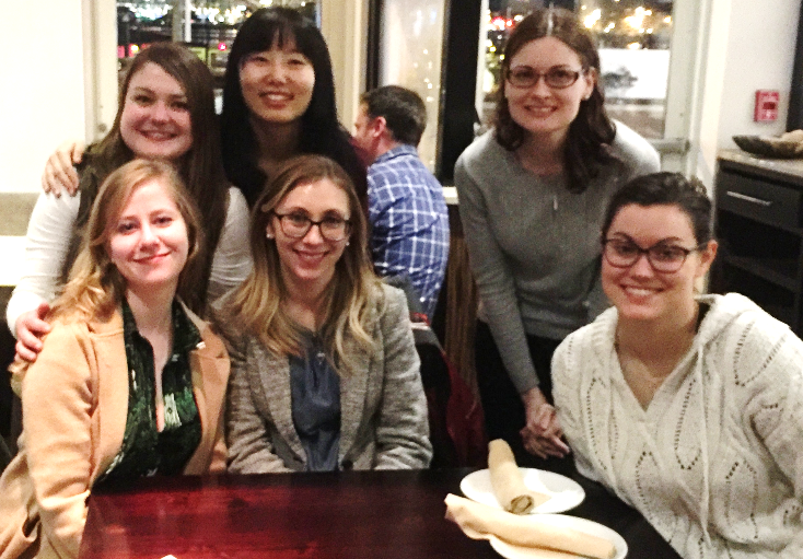 Jenna Glatzer (BS - Neuroscience '18), Aleta Steevens (PhD - Neuroscience '18), Courtney Kellogg (PhD Candidate - CBD), Felicia Gilels (PhD Candidate - CBD) Jingyuan Zhang (PhD - Biology '18), & Holly Beaulac (PhD Candidate- Neuroscience)