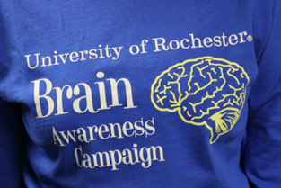 Brain Awareness Campaign logo on Tshirt