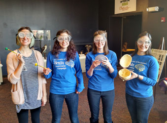 ngp students promote brain awareness