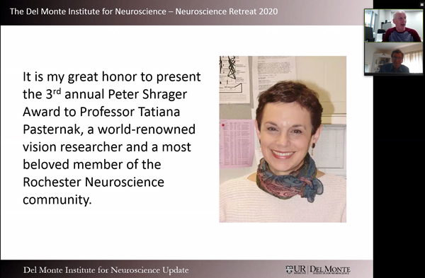 Photo of Tania Pasternak winning the annual Shrager Award